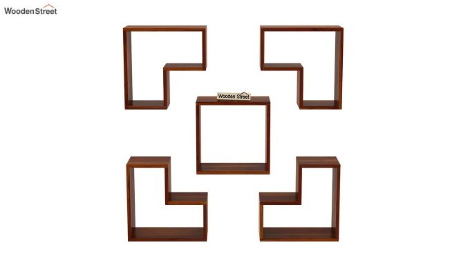 Tiber Wall Shelf (Honey Finish)-3