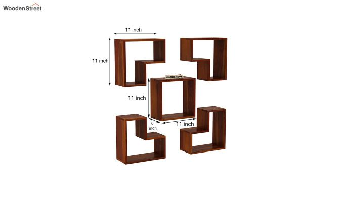 Tiber Wall Shelf (Honey Finish)-4