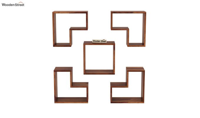 Tiber Wall Shelf (Teak Finish)-3