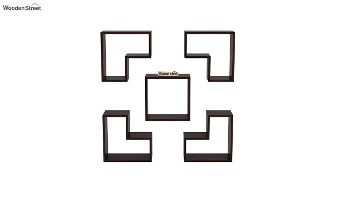Tiber Wall Shelf (Walnut Finish)-3