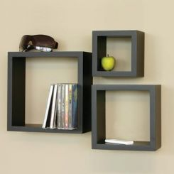 Trenton Wall Shelf - Set Of 3 (Black Finish)