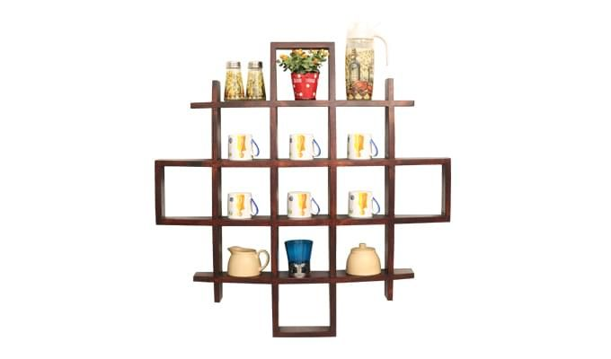 Trinity Kitchen Rack (Mahogany Finish)-1