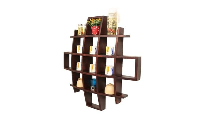 Trinity Kitchen Rack (Mahogany Finish)-2