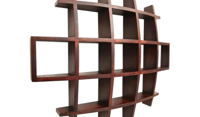 Trinity Kitchen Rack (Mahogany Finish)-4