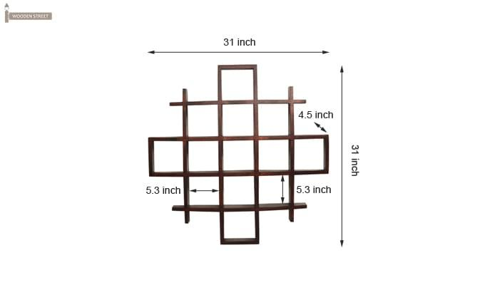 Trinity Kitchen Rack (Mahogany Finish)-6