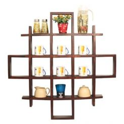 Trinity Kitchen Rack (Mahogany Finish)