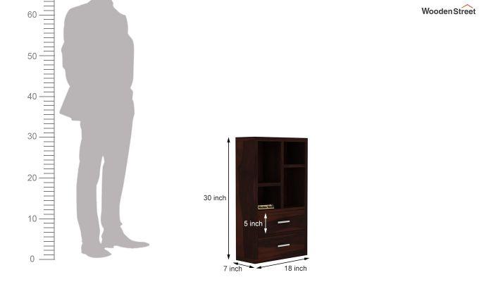 Wendy Wall Shelf (Walnut Finish)-6