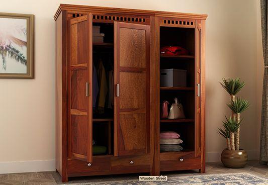 wooden wardrobes at low price online