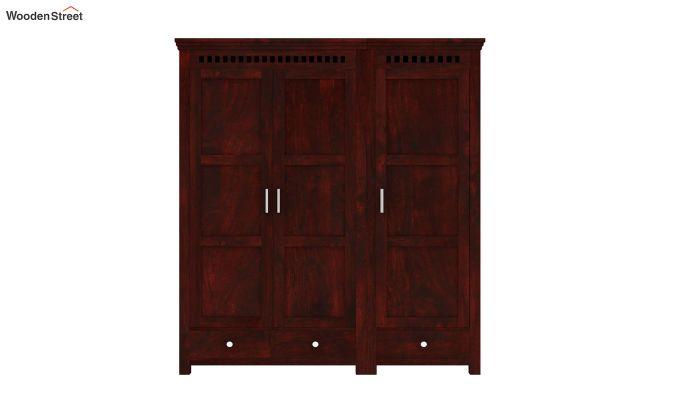 Adolph 3 Door Multi-Utility Wardrobe (Mahogany Finish)-4