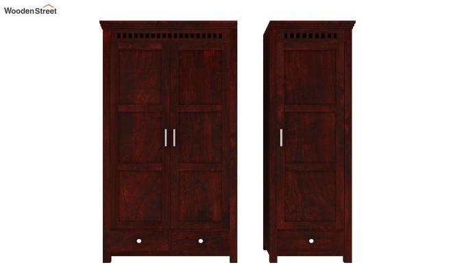 Adolph 3 Door Multi-Utility Wardrobe (Mahogany Finish)-6