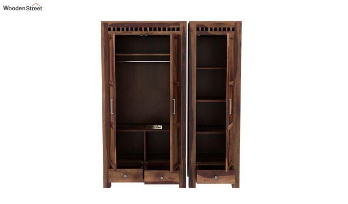 Adolph 3 Door Multi-Utility Wardrobe (Teak Finish)-6