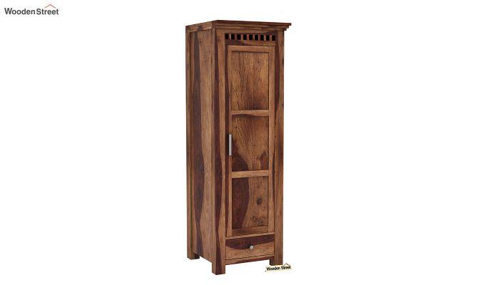 Adolph 3 Door Multi-Utility Wardrobe (Teak Finish)-7