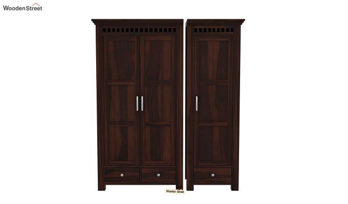 Adolph 3 Door Multi-Utility Wardrobe (Walnut Finish)-4
