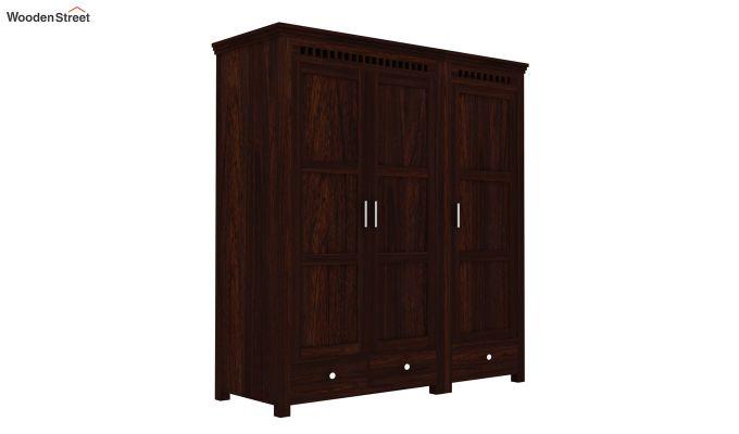 Adolph 3 Door Multi-Utility Wardrobe (Walnut Finish)-3