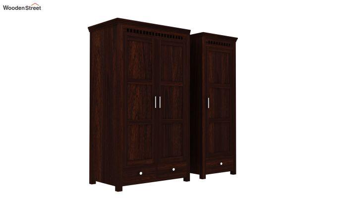 Adolph 3 Door Multi-Utility Wardrobe (Walnut Finish)-5