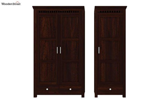 Adolph 3 Door Multi-Utility Wardrobe (Walnut Finish)-6