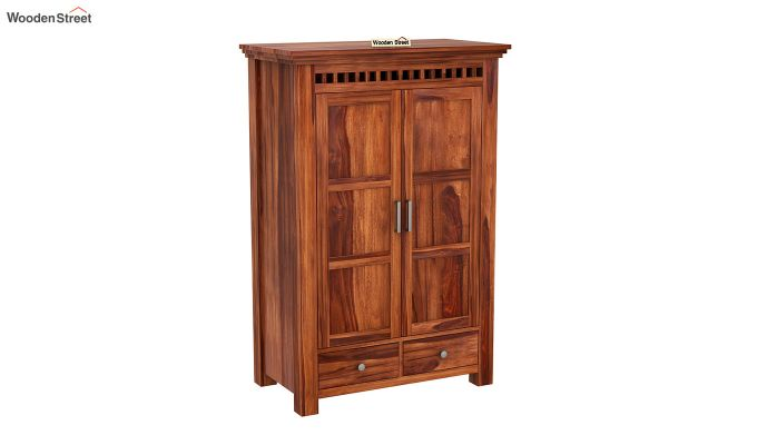 Adolph Medium Size Wardrobe (Honey Finish)-2