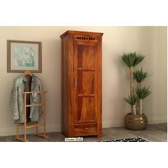 Adolph 1 Door Multi-Utility Wardrobe (Honey Finish)