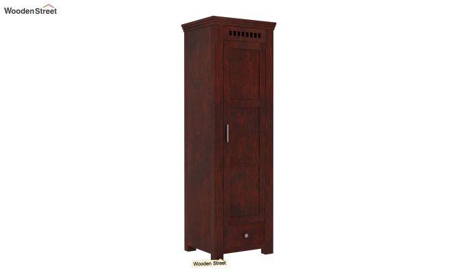 Adolph 1 Door Multi-Utility Wardrobe (Mahogany Finish)-1