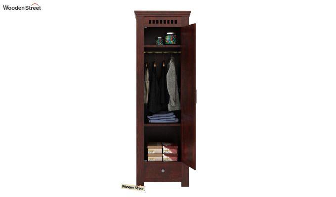 Adolph 1 Door Multi-Utility Wardrobe (Mahogany Finish)-3