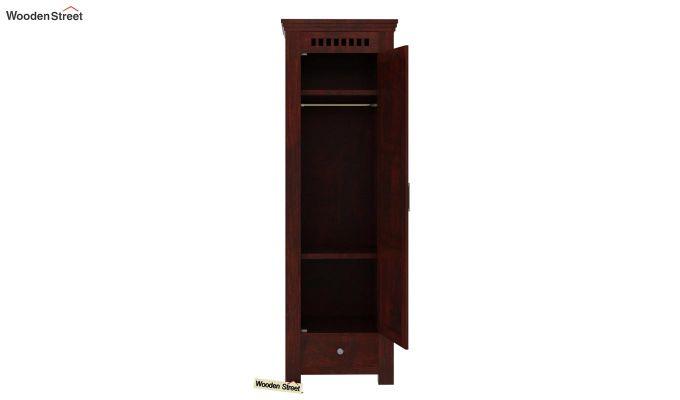 Adolph 1 Door Multi-Utility Wardrobe (Mahogany Finish)-4