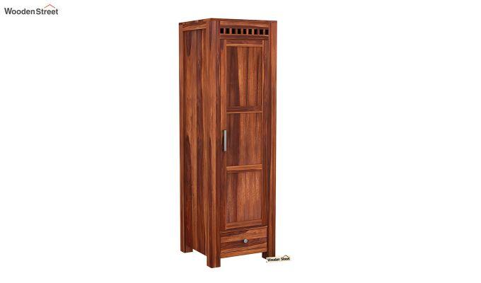 Adolph 1 Door Multi-Utility Wardrobe (Honey Finish)-2