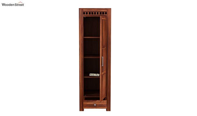 Adolph 1 Door Multi-Utility Wardrobe (Honey Finish)-5
