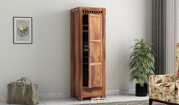 Adolph 1 Door Multi-Utility Wardrobe (Teak Finish)-1
