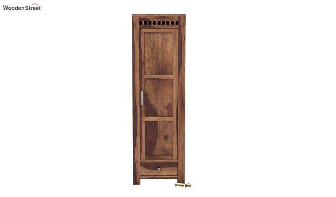 Adolph 1 Door Multi-Utility Wardrobe (Teak Finish)-3