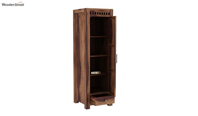 Adolph 1 Door Multi-Utility Wardrobe (Teak Finish)-4