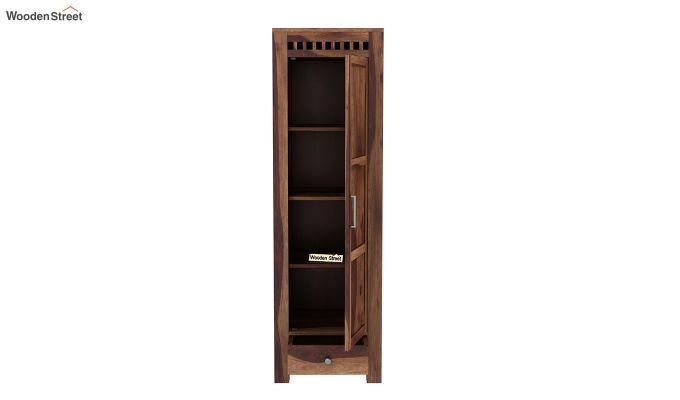 Adolph 1 Door Multi-Utility Wardrobe (Teak Finish)-5