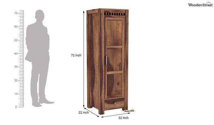 Adolph 1 Door Multi-Utility Wardrobe (Teak Finish)-6