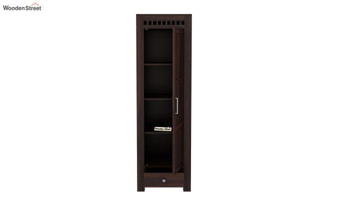 Adolph 1 Door Multi-Utility Wardrobe (Walnut Finish)-5