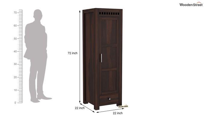 Adolph 1 Door Multi-Utility Wardrobe (Walnut Finish)-6
