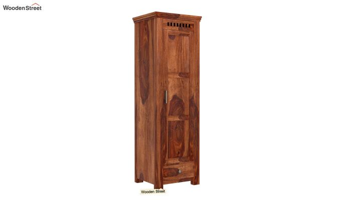 Adolph 1 Door Multi-Utility Wardrobe (Teak Finish)-1