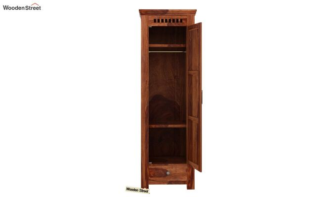 Adolph 1 Door Multi-Utility Wardrobe (Teak Finish)-4