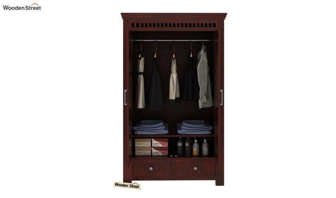 Adolph Medium Size Wardrobe (Mahogany Finish)-3