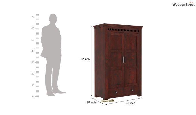 Adolph Medium Size Wardrobe (Mahogany Finish)-5