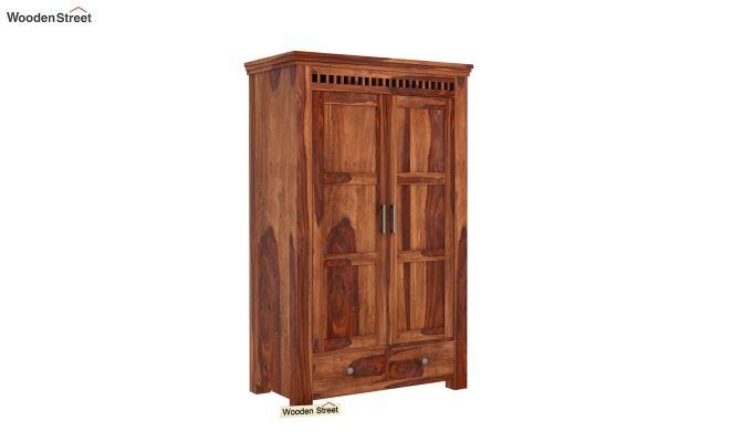 Adolph Medium Size Wardrobe (Teak Finish)-1