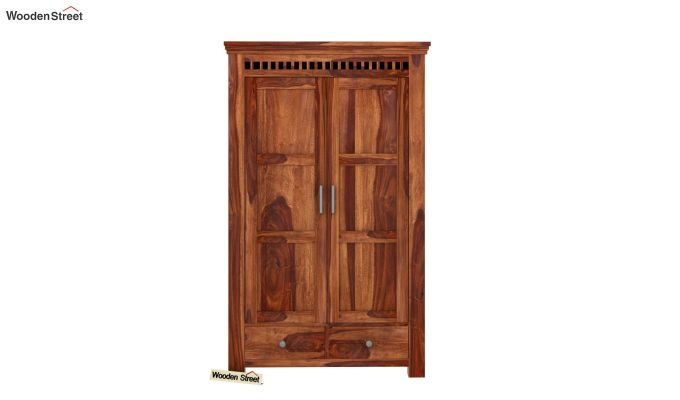 Adolph Medium Size Wardrobe (Teak Finish)-2