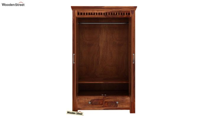 Adolph Medium Size Wardrobe (Teak Finish)-4