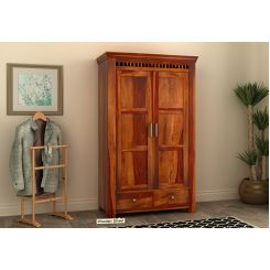 Adolph Multi Utility Wardrobe (Honey Finish)