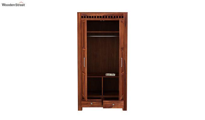 Adolph 2 Door Multi Utility Wardrobe (Honey Finish)-5