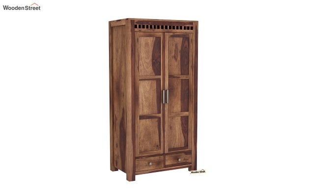 Adolph 2 Door Multi Utility Wardrobe (Teak Finish)-2