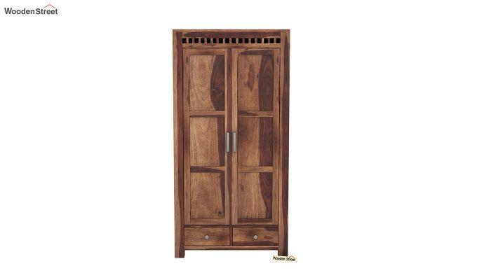 Adolph 2 Door Multi Utility Wardrobe (Teak Finish)-3