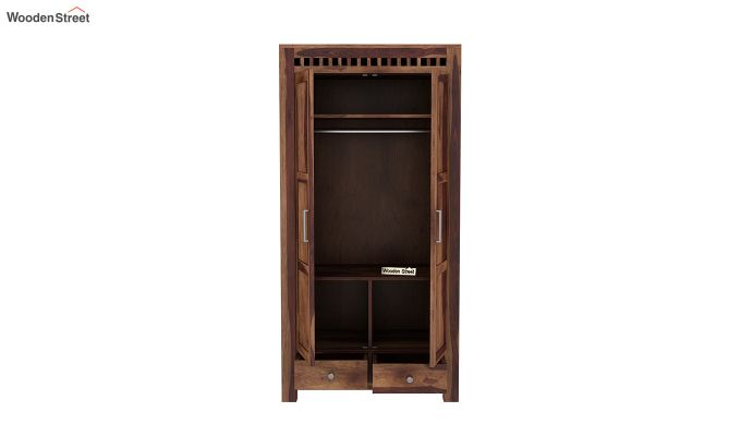 Adolph 2 Door Multi Utility Wardrobe (Teak Finish)-5