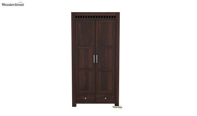 Adolph 2 Door Multi Utility Wardrobe (Walnut Finish)-3