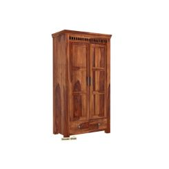 Adolph Multi Utility Wardrobe (Teak Finish)