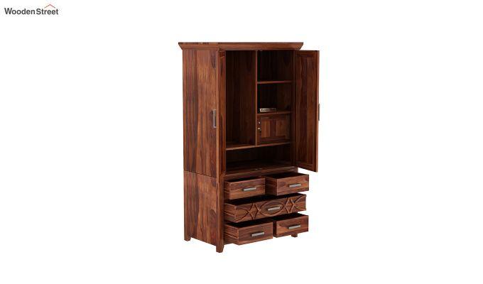 Allan 2 Door Multi-Utility Wardrobe (Honey Finish)-4
