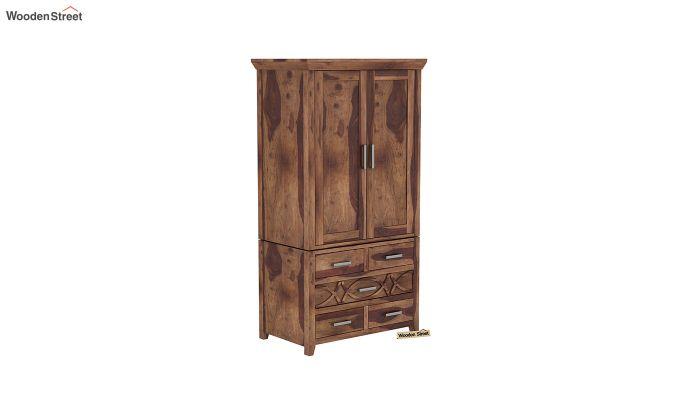 Allan 2 Door Multi-Utility Wardrobe (Teak Finish)-2